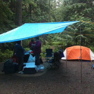 Camping in the Rain by Joel Friesen via Flickr.